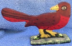 Pájaro tallado en madera comprado en Nueva Inglaterra.
