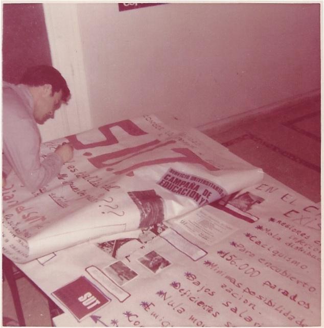 """Con 18 años, estoy preparando un cartel del SUT para captar """"sutistas"""""""