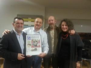 Con Arsenio Escolar, Juan Carlos Avilés y Virginia Perez