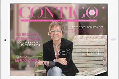 Pantalla de la app Contigo, diseñada por la doctora Estévez