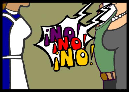 La negociación de la empleada doméstica sin papeles. Captura de la animación de Marcosur y Oxfam