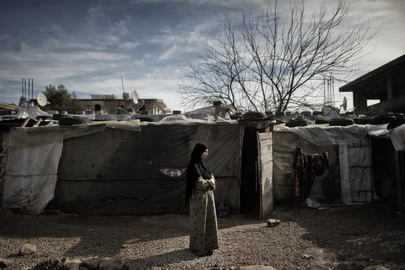 Samira se ha visto obligada a vivir en un campo de refugiados de Líbano. © Luca Sola/Oxfam.