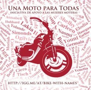 Imagen de la campaña 'Una moto para todas'