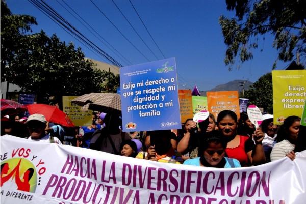 Movilización del Movimiento Salvadoreño de Mujeres en demanda de sus derechos, 2012