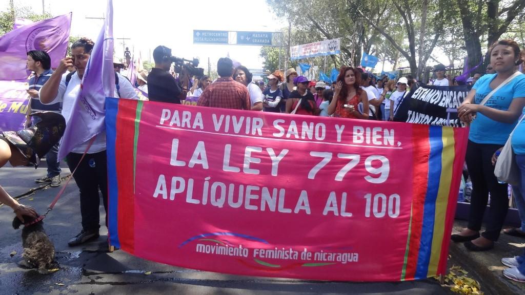 El movimiento feminista y de mujeres salió a las calles contra la reforma de la Ley 779. (c) Damaris Ruiz.