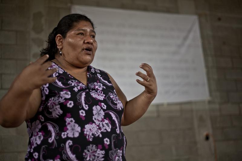 Raquel Vásquez es una de las lideresas con las que trabaja Oxfam  Intermón (c) Pablo Tosco / Oxfam Intermón