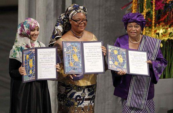 Nobel de la paz a la Presidenta de Liberia Ellen Johshon-Sirleaf, la activista liberiana Roberta Gbowee y la yemení Tawakkol Karman