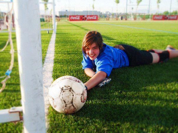 Guardameta de fútbol. Imagen: (c) Marta Hernández Arriaza