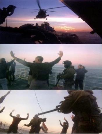Imágenes del video de la detención de los activistas del Ártico. Greenpeace.