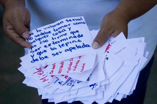Notas recogidas en un taller de prevención de la violencia con adolescentes. Oxfam en El Salvador