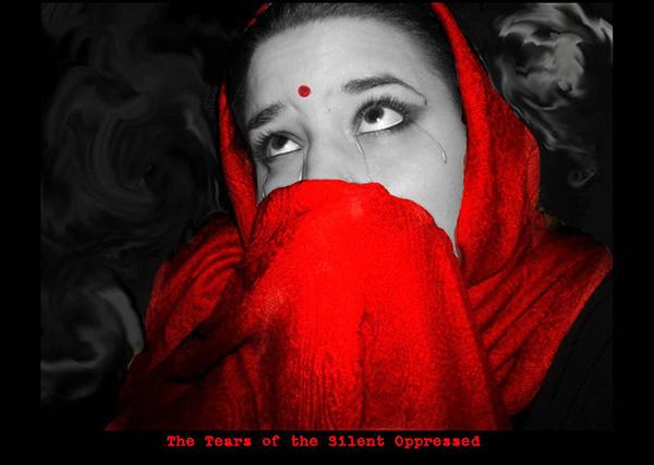 """""""Las lágrimas del silencio oprimido"""". Imagen de moonywerecat"""