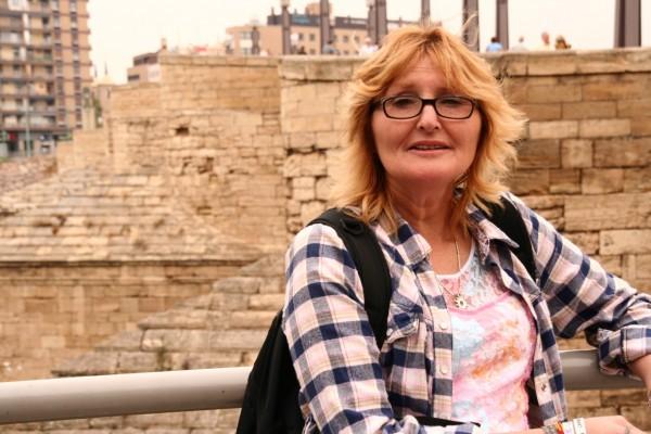 Sofía Gatica, durante una visita a España. Imagen: Greenpeace