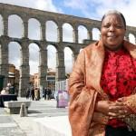 """La política tanzana Getrude Mongella, también conocida como """"Mamá Beijing"""", el año pasado en Segovia, sede de los Encuentros. Imagen: Juan Martín."""
