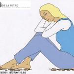 Una de las formas de control es aislar a la víctima de sus familiares, sus amigos, para lograr que dependa exclusivamente del maltratador. Ilustración de Ana Sara Lafuente.
