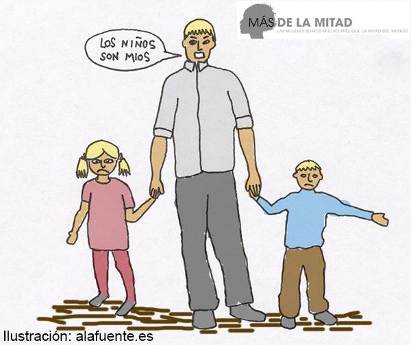 Parte del control se ejerce a través del control y la manipulación de los hijos en común. Imagen de Ana Sara Lafuente.