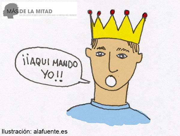 El maltratador impone sus normas y su voluntad de forma constante. Ilustración de Ana Sara Lafuente.