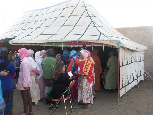 Caravana de formación en derechos laborales en Marruecos. Imagen de Chus García-Fraile.