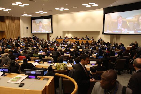 Reunión de la 47ª Comisión de Población y Desarrollo de Naciones Unidas, en abril de 2014. Imagen: UNFPA.