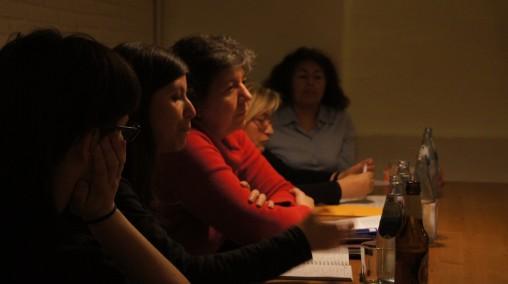 Andrea Momoitio (Pikara Magazine), Ana Requena (Micromachismos, eldiario.es), Belén de la Banda (Más de la mitad, 20 minutos), Cristina P. Fraga (Ameco Press) y Lourdes Sandoval (Calandria, Perú)