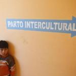 Señalización de la zona de parto intercultural en un hospital de Bolivia. Fotografía de Olmo Calvo.
