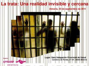 Cartel de Apramp sobre la trata de personas.