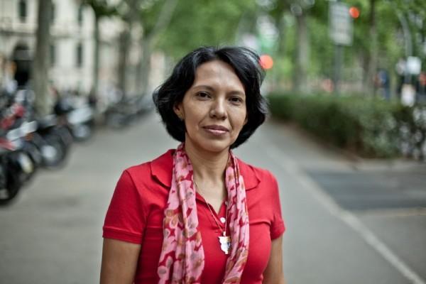 Ana Patricia Martínez Corrales, de la organización nicaragüense FUNDEMUNI, durante una reciente visita a Barcelona. Imagen: Pablo Tosco/Oxfam Intermón.