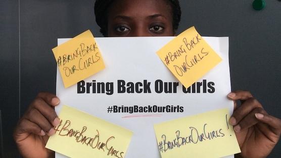Imagen de la acción 'Bring Back Our Girls' (Devolved a nuestras niñas). Change.org