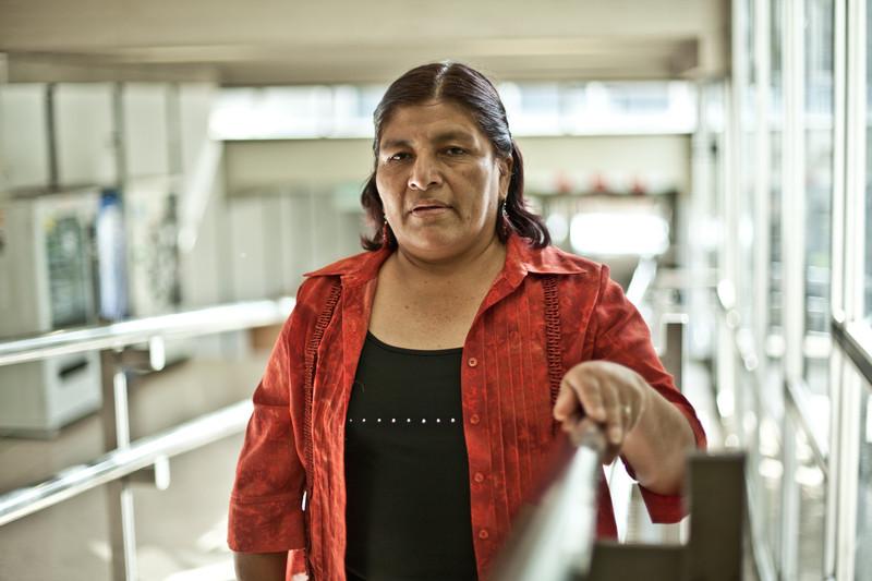 Relinda Sosa en su reciente visita a España este mes de mayo. (C) Pablo Tosco / Oxfam Intermón