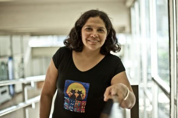 Johanna Izurieta, durante una reciente visita a Barcelona. Imagen: Pablo Tosco / Oxfam Intermón