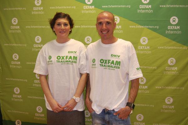 Mayte Martínez y Chema Martínez durante la presentación del Oxfam Intermón Trailwalker Madrid, que tendrá lugar los días 5 y 6 de julio