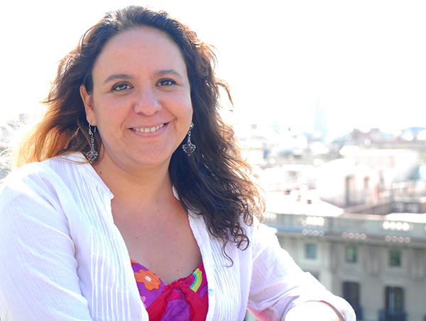 Marcela Turati durante su reciente visita a la sede de Oxfam Intermón en Barcelona. (C) Júlia Serramitjana / Oxfam Intermón