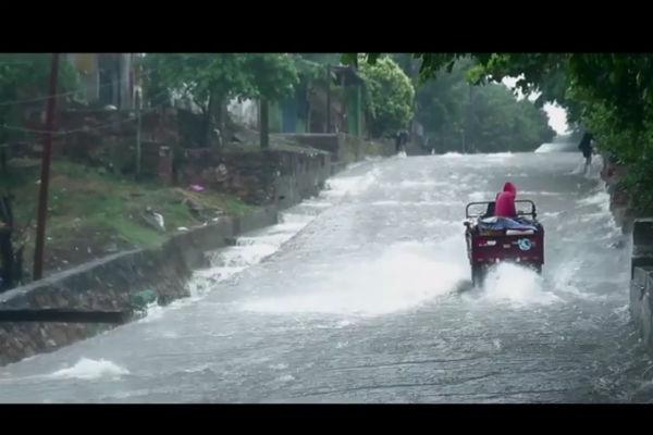 Inundaciones en el Bañado Sur de Asunción. Imagen del video Gloria y la lluvia.