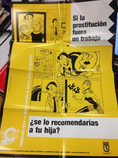 'Si la prostitución fuera un trabajo, ¿se lo recomendarías a tu hija?' Imagen de una campaña de la Comisión para la Investigación de Malos Tratos a Mujeres, www.malostratos.org