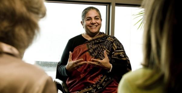 Vandana Shiva, científica, activista, filósofa y escritora India.  (c) Pablo Tosco / Oxfam Intermón