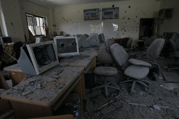 Instalaciones destruidas de la Universidad de Gaza. (c) Iyad Al Baba/Oxfam