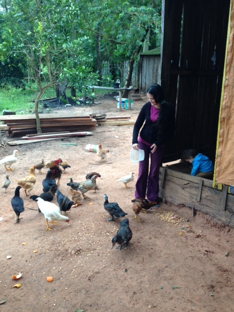 Dolores Peralta en la casa donde permanece en arresto domiciliario en el municipio de Curuguaty (Paraguay) (c) L. Hurtado / Oxfam Intermón