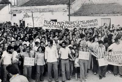 Movilizaciones vecinales por la vivienda en Vallecas. Imagen: AA.VV. Palomeras.