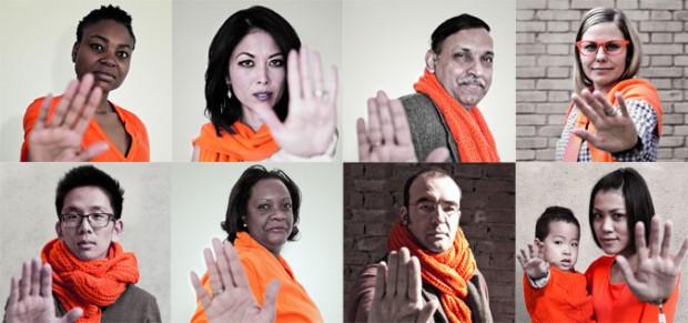 Imagen de la campaña #orangeourworld de Naciones Unidas.
