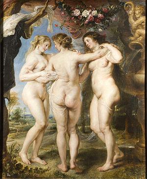 Las tres gracias, de Rubens. Imagen: Museo del Prado.