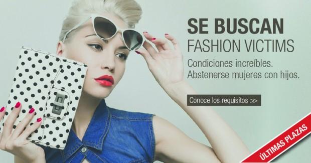Cartel de la campaña 'Se buscan fashion victims. Condiciones increíbles'