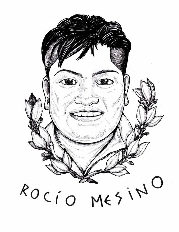 Rocío Mesino, lideresa campesina asesinada en México. (c) Sara Chabela