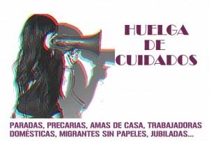 2.- Cartel Huelga de Cuidados. Montaje Carol García