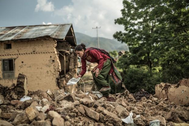 Además de su casa, Guita a ha perdido las semillas para la próxima cosecha. Se ha quedado sin su medio de subsistencia.