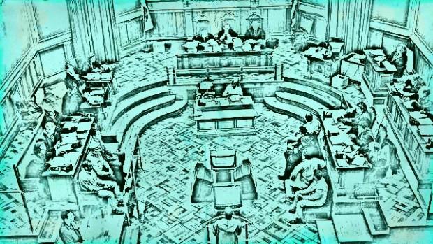 Sala de juicio. Imagen de TrasTando