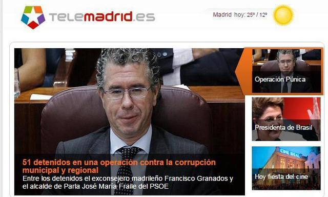 Y mientras, en TeleMadrid… Consiguen dar la noticia de Francisco Granados sin nombrar al PP pero sí al PSOE (vía @elNota_Lebowski)