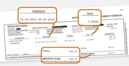 La hipoteca de Amparo ya sin cláusula suelo. Le corresponde pagar una cuota de 825,31 euros mensuales.