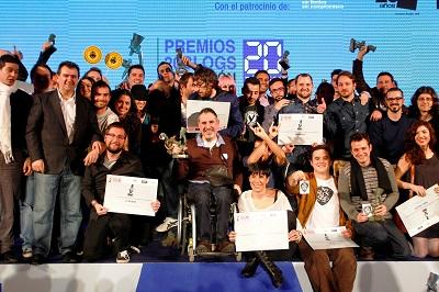 Ganadores de los VII Premios 20Blogs.