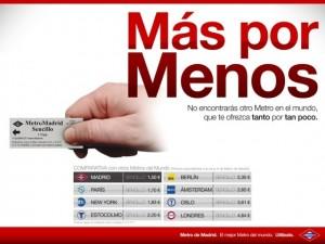 """""""Más por Menos"""", el despropósito de Metro de Madrid Metro-publicidad-cartel-300x225"""