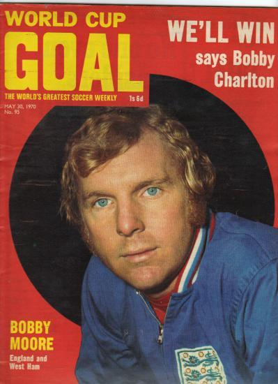 Moore, en la portada de la revista 'Goal', de mayo del 70.