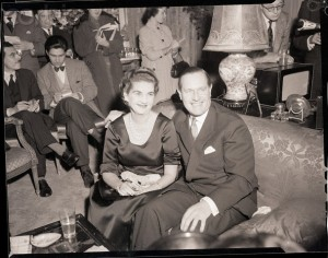 Barbara Hutton Seated with Baron Von Cramm